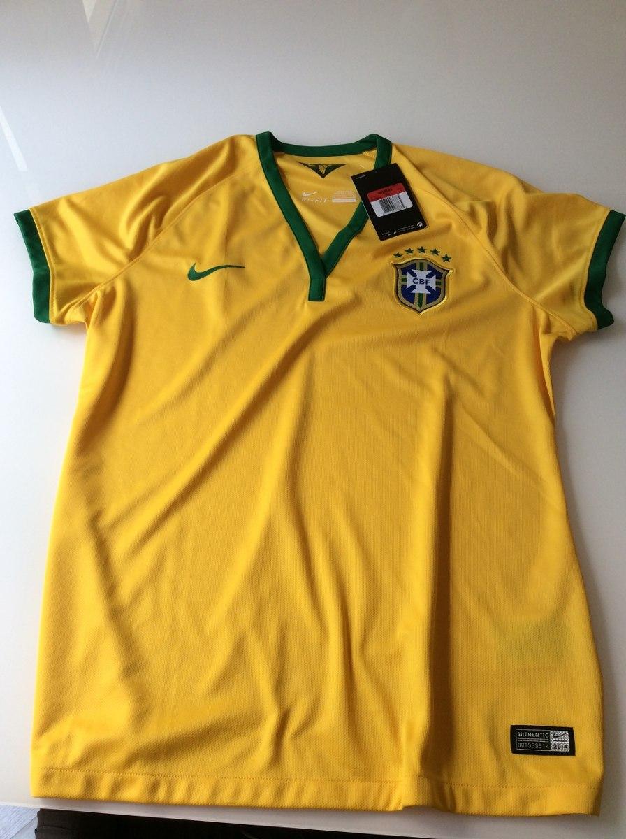 Camisa Brasil Feminina Oficial original. Tamanho Gg - R  99 658cd7fb139a7