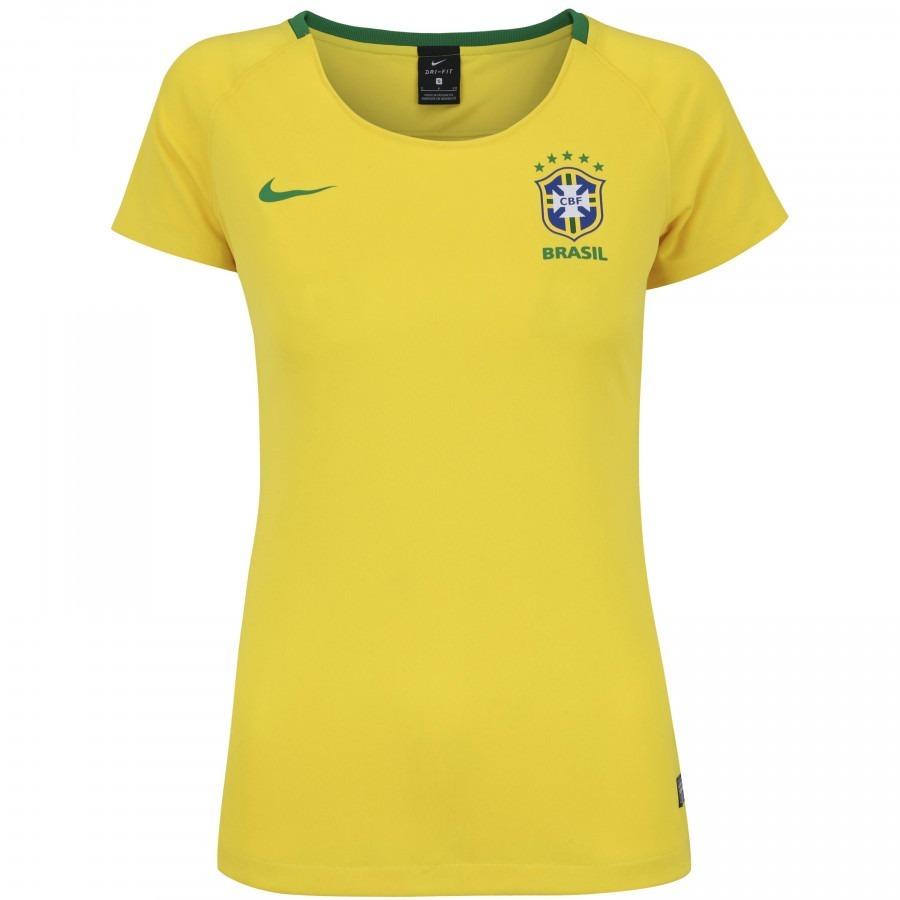 Camisa Do Brasil Feminina Baby Look Seleção Brasileira Nova - R  100 ... 00e384ec2d330