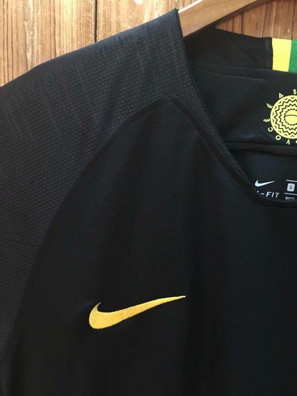 camisa brasil goleiro copa russia 2018 preta seleção nike. Carregando zoom. 1a32cad16a401