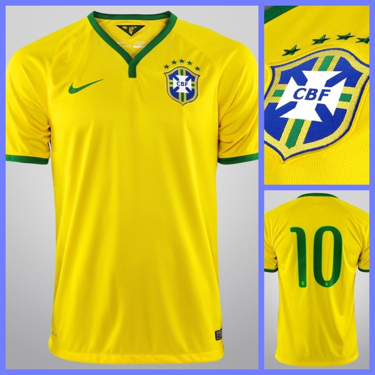 1fc545323b Camisa Brasil N° 10 Cbf - Nike