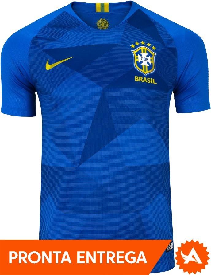 camisa brasil nike azul reserva oficial 2018 original promo. Carregando zoom . f3d15a3ee263c