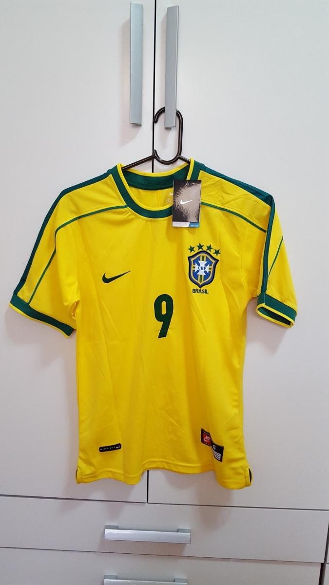 camisa brasil nike - copa 98 - ronaldo 9. Carregando zoom. 0023104401f57