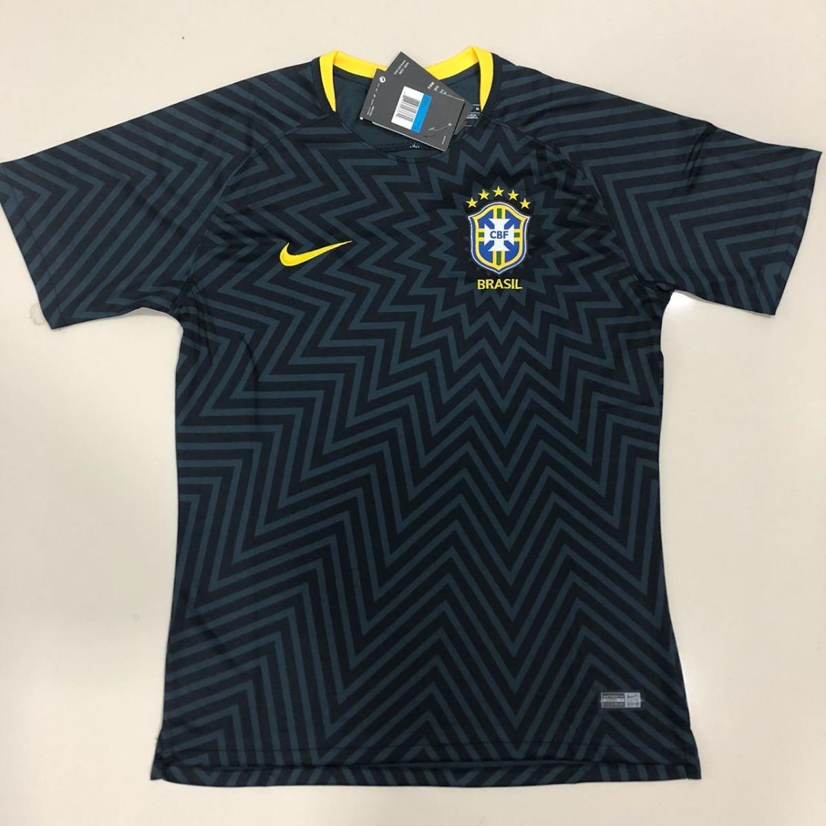 a82afdcafb camisa brasil nike preta pré-jogo copa 2018. Carregando zoom.