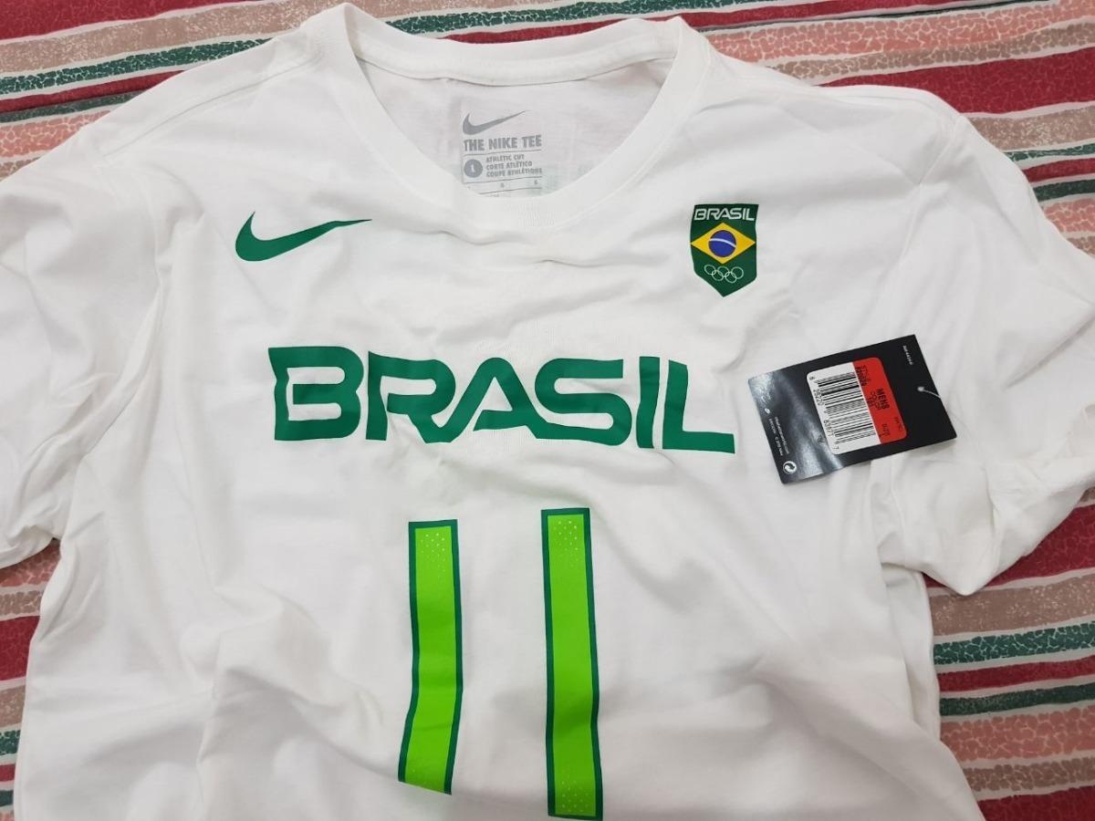 7a32129400876 camisa brasil olimpíada nike - basquete branca. Carregando zoom.