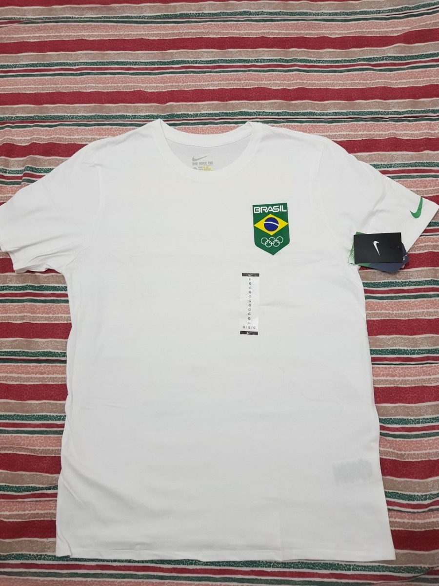 6d0ce15ae58f6 camisa brasil olimpíada nike - branca. Carregando zoom.
