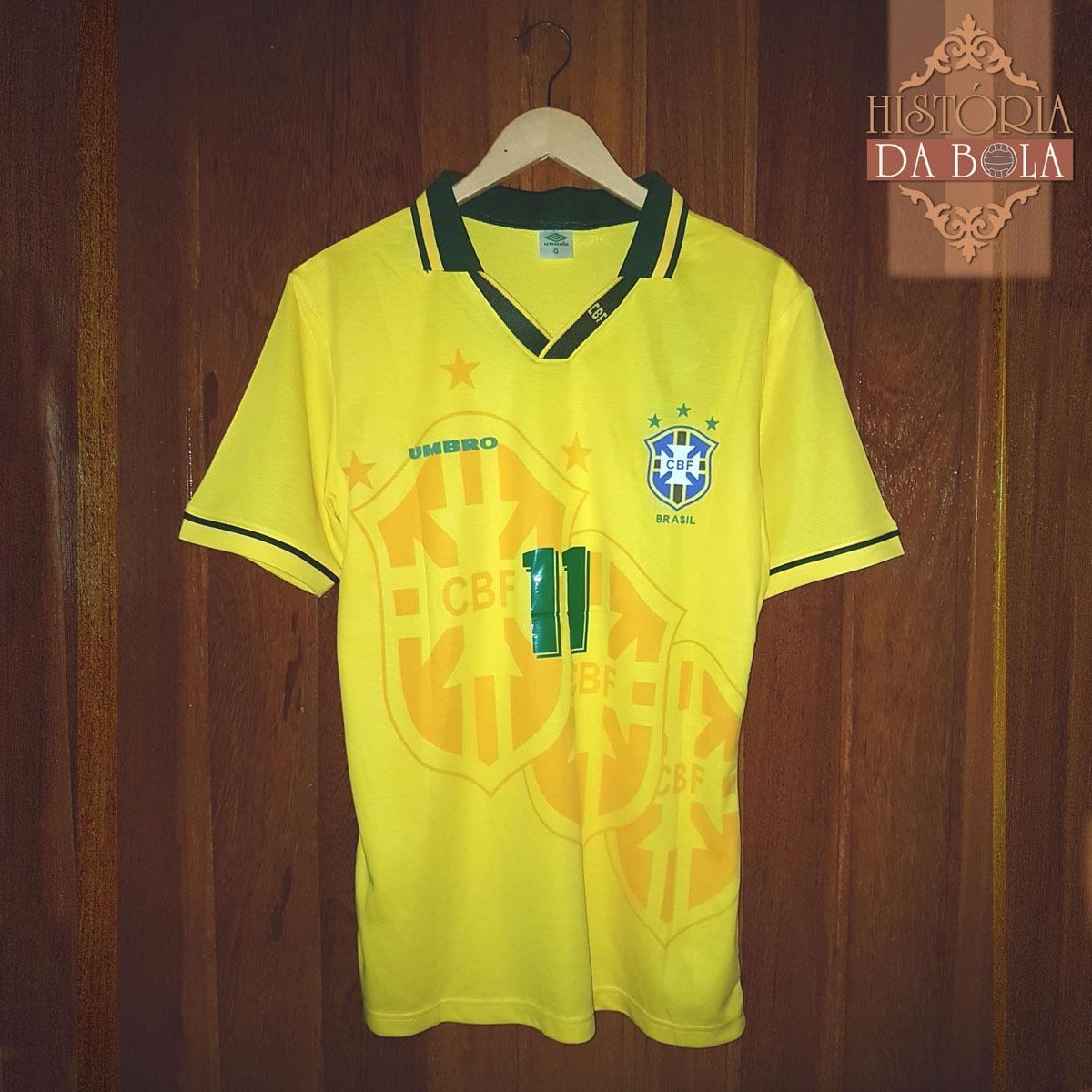 camisa brasil retrô - 1994 - 11 romario pronta entrega. Carregando zoom. c831cad70aa3d