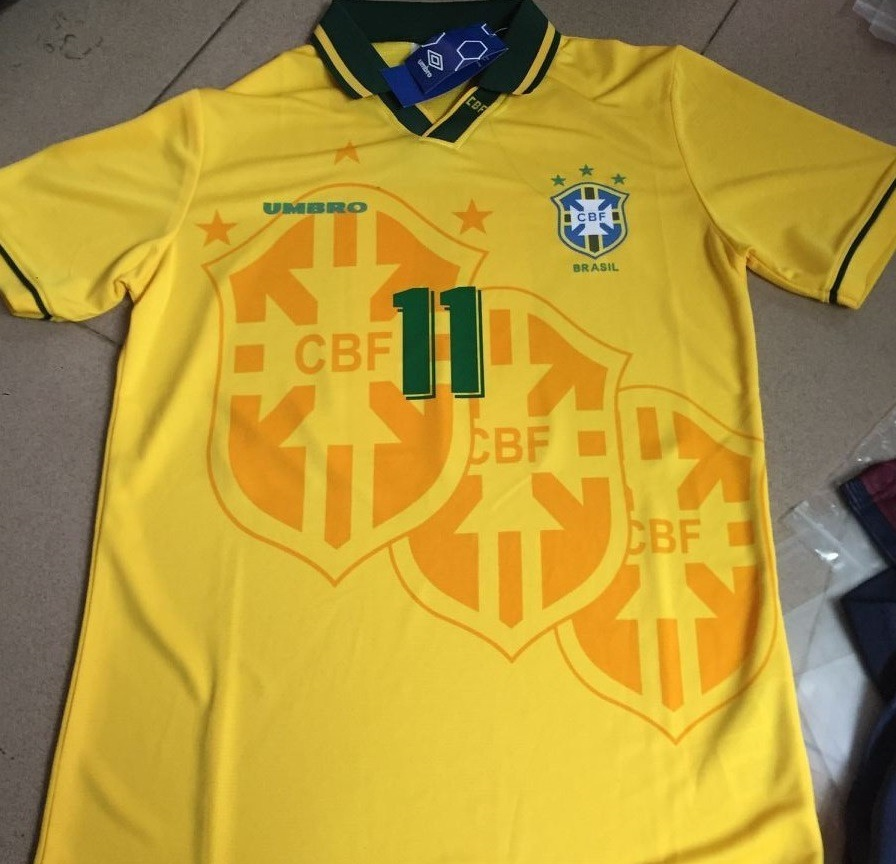 camisa brasil retrô 1994 oficial romário pronta entrega. Carregando zoom. 6e40eb4f5a4a9
