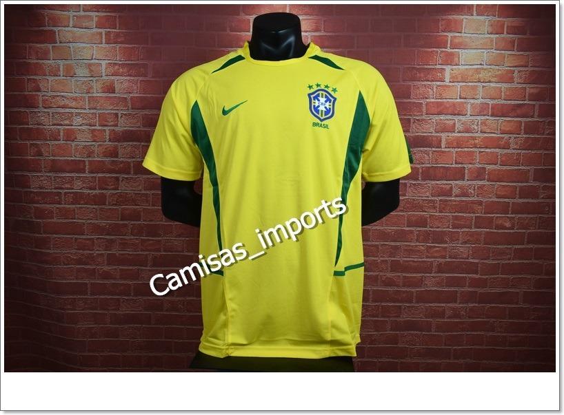 4b7761267201a camisa brasil retrô 2002 - frete grátis. Carregando zoom.