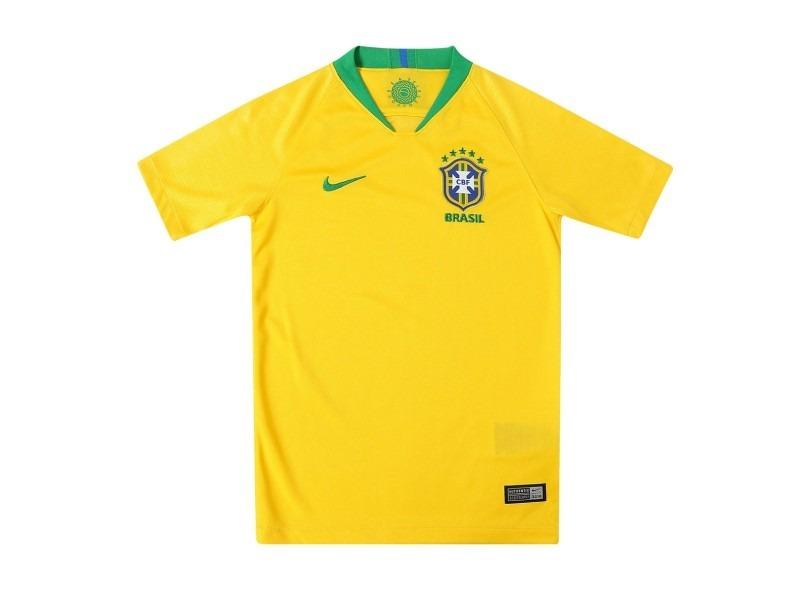 f984394e1336b Camisa Do Brasil Infantil Seleção Brasileira Criança Junior - R  95 ...