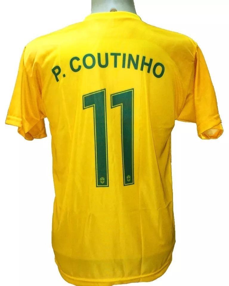 camisa brasil seleção brasileira copa 2018 nike p. coutinho. Carregando  zoom. 70495f029e8a7