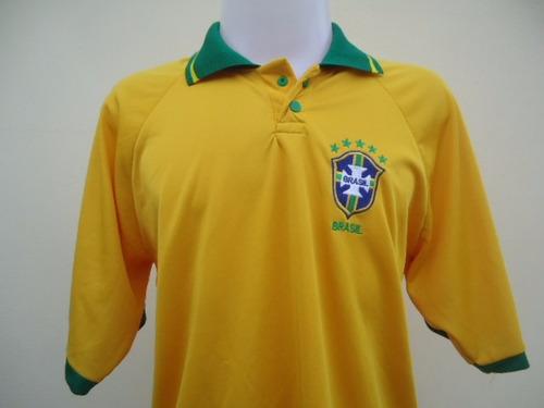 camisa brasil seleção brasileira  gola polo