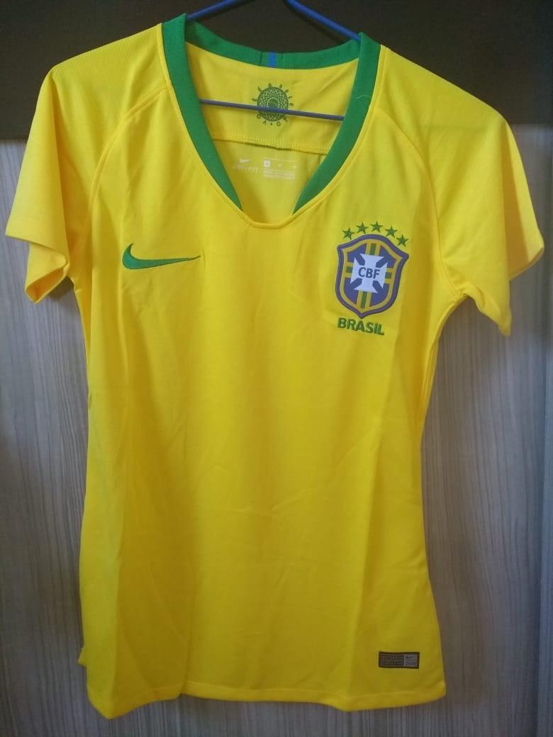 0c85b7a7f0f69 Camisa Brasil Copa Russia 2018 Seleção Brasileira Feminina - R  179 ...