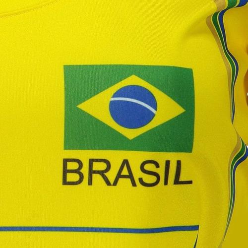 camisa brasil vôlei cbv feminina amarela original tamanho g