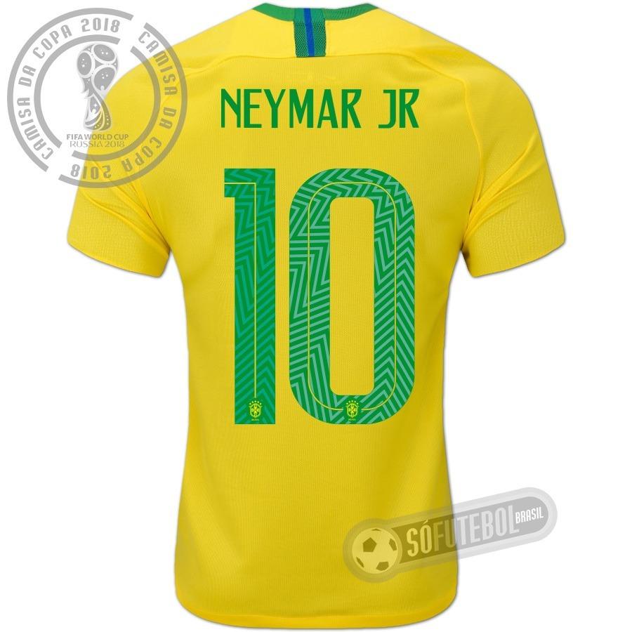 Camisa Brazil Amarela Copa 2018 Original Da Nike Neymar N10 - R  229 ... d26676592d7bc