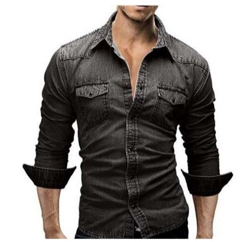d32da9f61 Camisa Brim Masculina Social Moda Luxo Homens Promoção - R  216