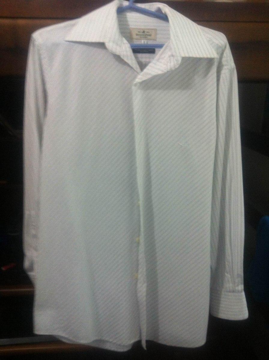 42ca0fbc7c8 camisa brooksfield branca nova. Carregando zoom.
