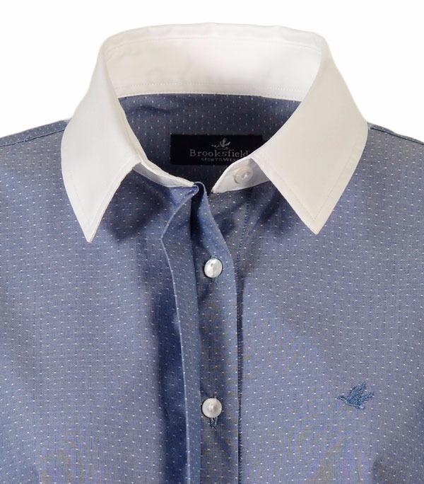 c8b7341715 Camisa Brooksfield Mujer Moda Algodón Tramada Bm03082z -   1.190