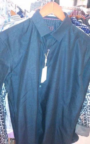 camisa bugatchi textura de grecas