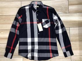 2acd2144 Camisa Burberry De Vestir Manga Larga/ Negra