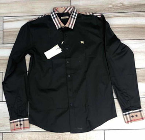 1ffec352 Camisa Burberry De Vestir Manga Larga/ Negro