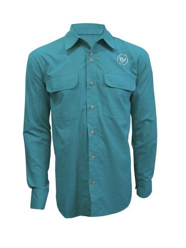 camisa by aventura atibaia - cor verde água - tamanho p