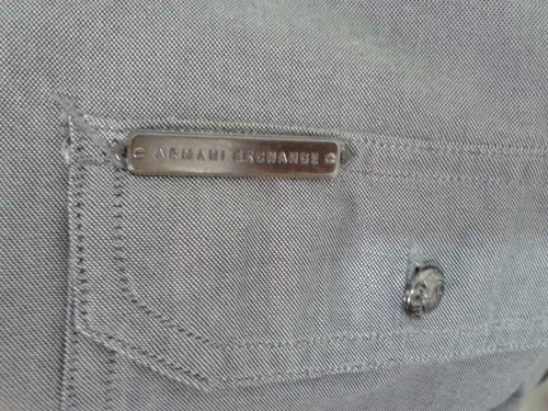 camisa caballero armani exchange gris claro como nueva