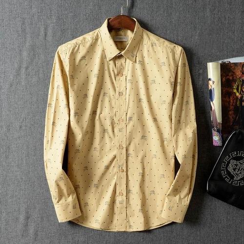camisa caballero burberry long shirt puntos amarillo ocre