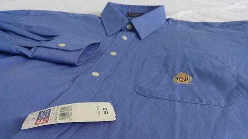 camisa caballero de vestir azul chaps ralph lauren / g