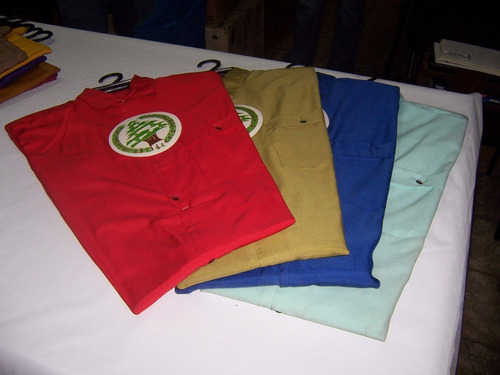 camisa caballero manga corta 8 colores, x lote de 100 piezas