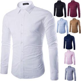 7c1fee188b8e Camisa Caballero Slim Fit Tela Dacron Unicolor
