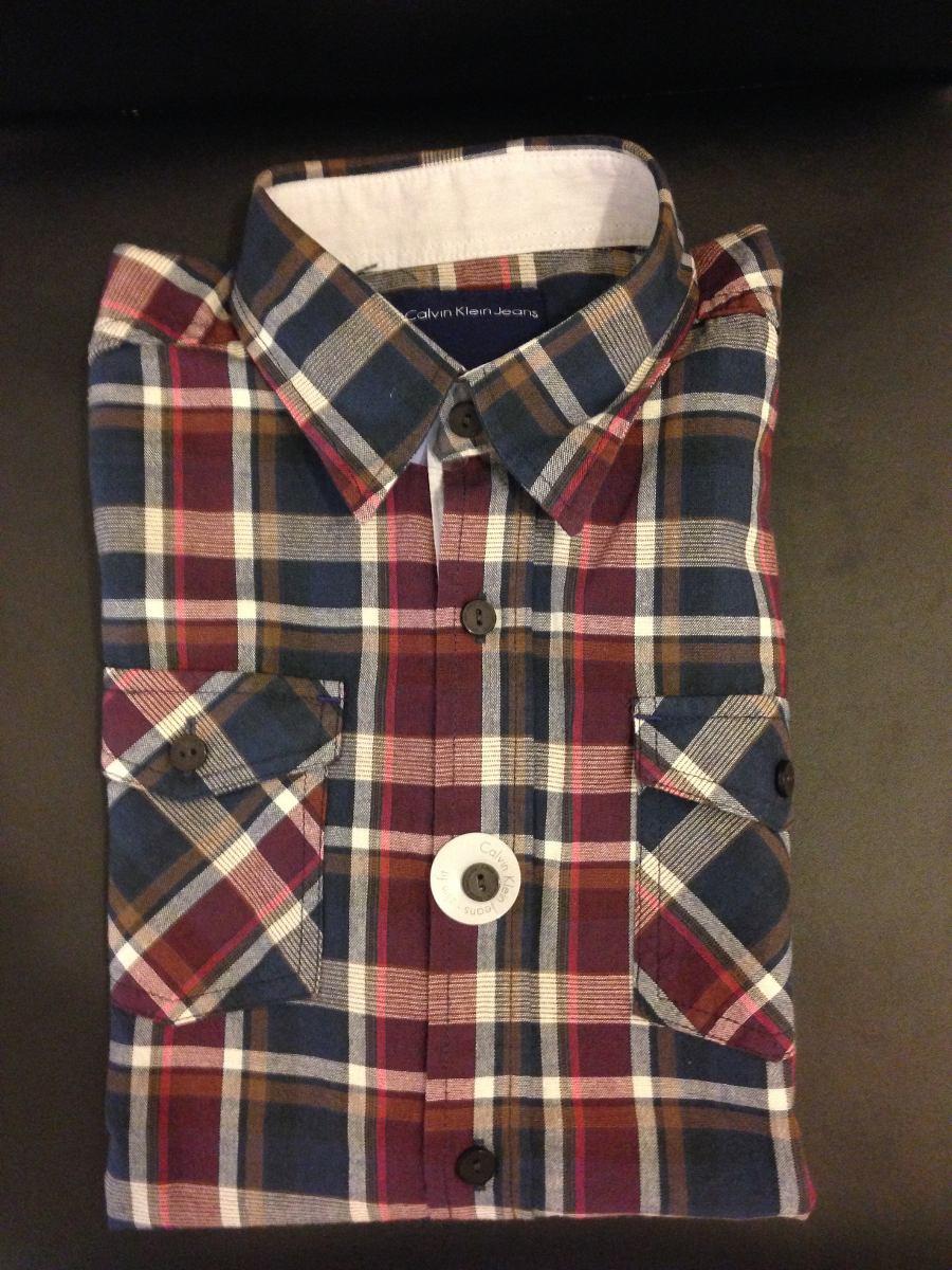 camisa calvin klein ckj kids infantil tamanho 10 xadrez. Carregando zoom. 6938732c4c