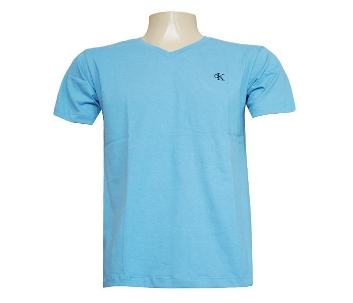 02f433617abe3 Camisa Calvin Klein Gola V Azul Bebê - R  54