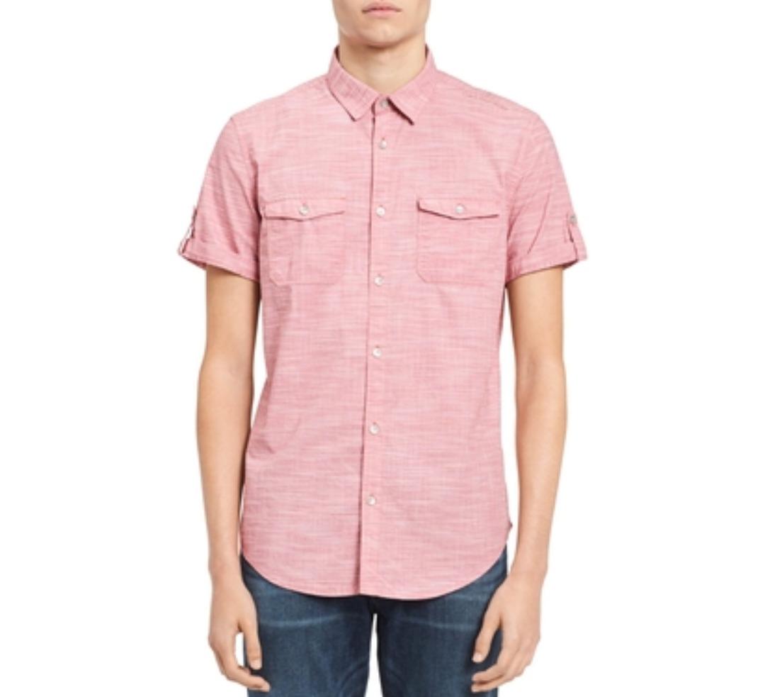 2ad04dbc00 Camisa Calvin Klein Jeans Hombre Talla L Color Cereza -   950.00 en ...