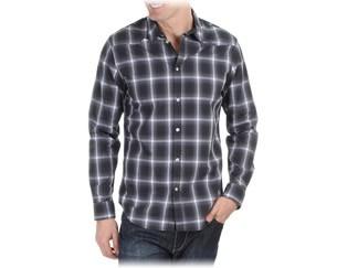 camisa calvin klein  negra cuadros talla m