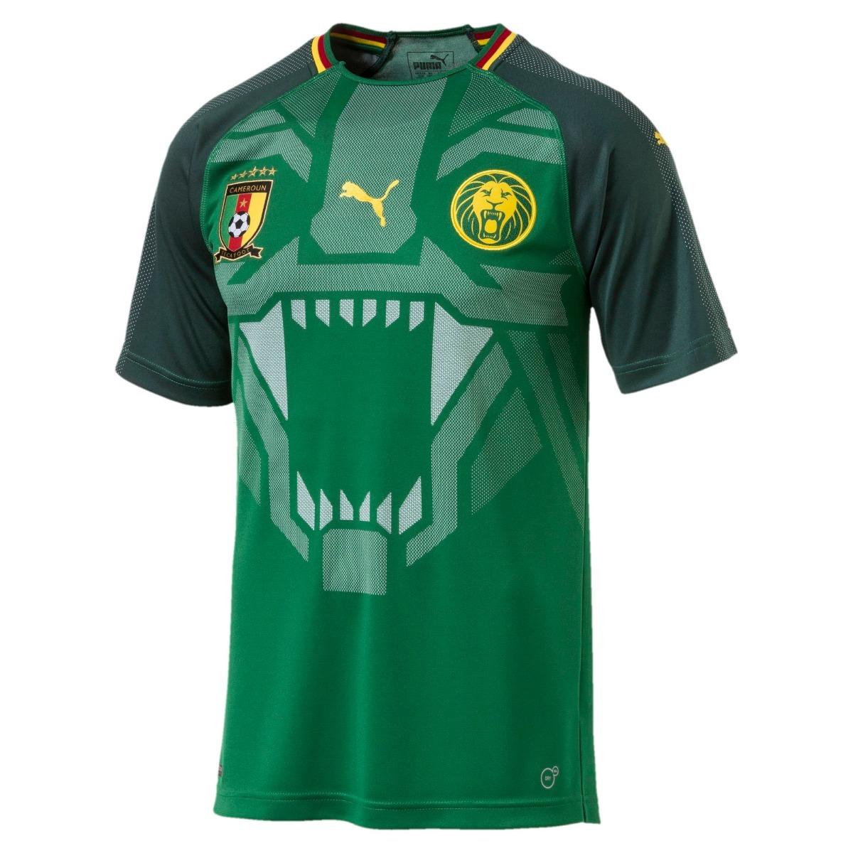 Camisa Do Camarões Seleção Copa Do Mundo Nova Lançamento - R  130 f7aaec6b1c751