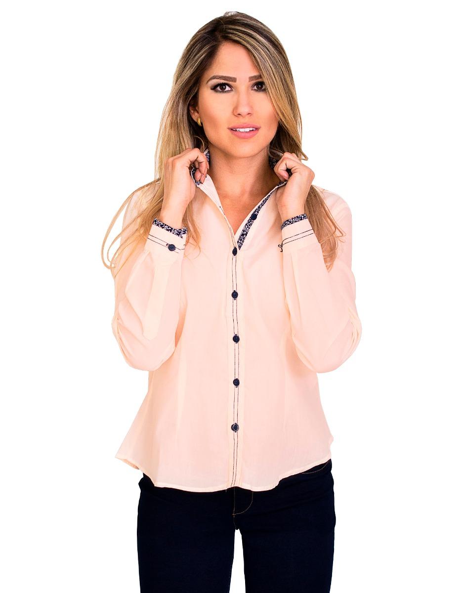 79d521a62 camisa camisas social feminina slim promoção manga longa. Carregando zoom.