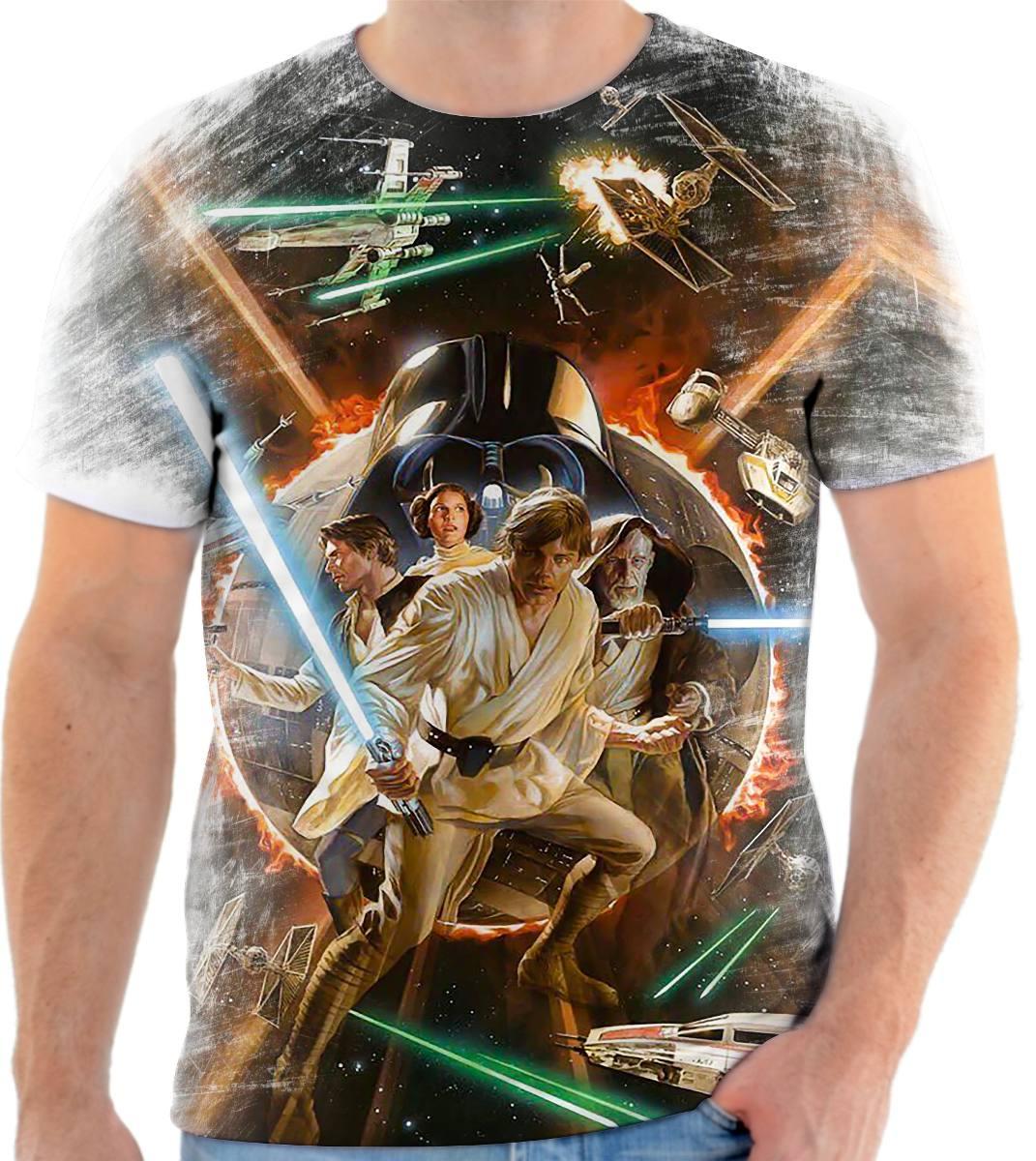 Camisa Camiseta - 1 Star Wars   Filmes - R  47 d4fbd49777d7f