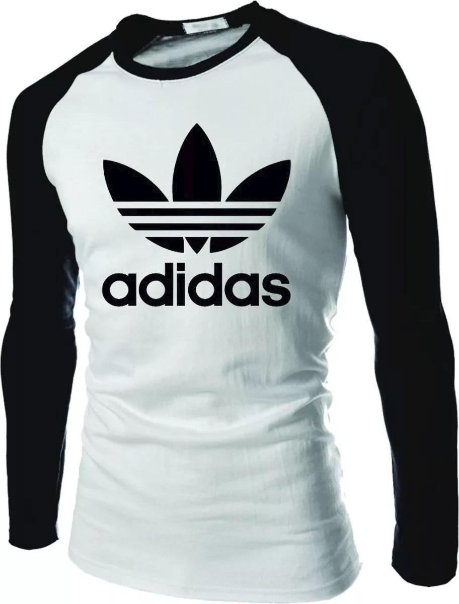 ca100de5a354a camisa camiseta adidas raglan manga longa personalizada top. Carregando  zoom.