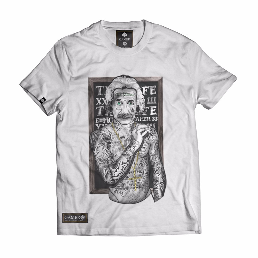 55d819b8d camisa camiseta albert einstein gangsta thug life original. Carregando zoom.
