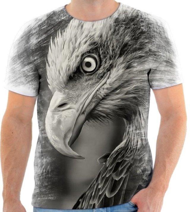 f35dc9c3f1 Camisa Camiseta Animal Ave Águia Poder Rapina Voar 02 - R  50
