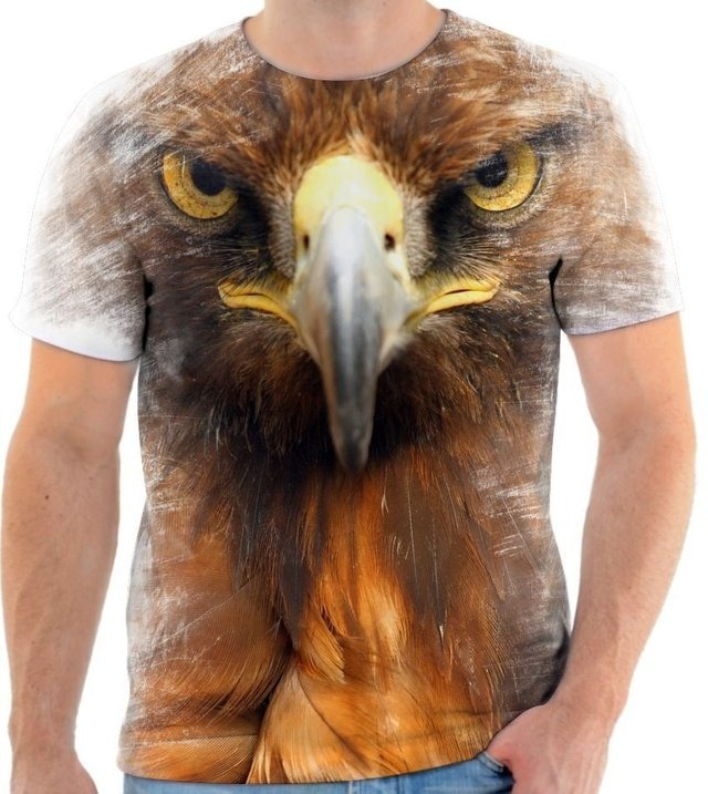 b42de1125a Camisa Camiseta Animal Ave Águia Poder Rapina Voar Pássaro 1 - R  50 ...