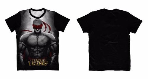 camisa, camiseta anime - leagues of legends - lee sin