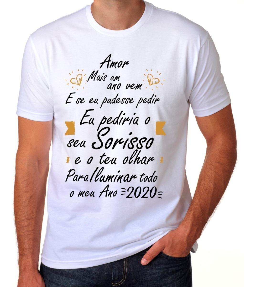 Camisa Camiseta Ano Novo Feliz 2020 Reveillon Amor Frases