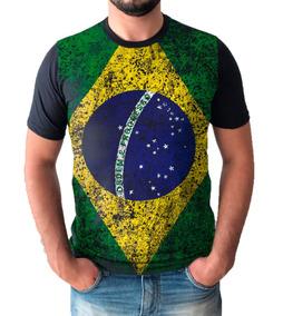 183053d034 Camisa Camiseta Bandeira Do Brasil Estilo John John Premium
