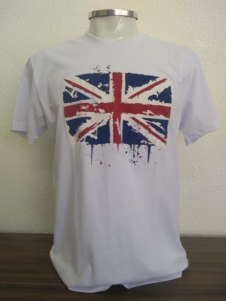 9efcdd9548 Camisa Camiseta Bandeira Inglaterra