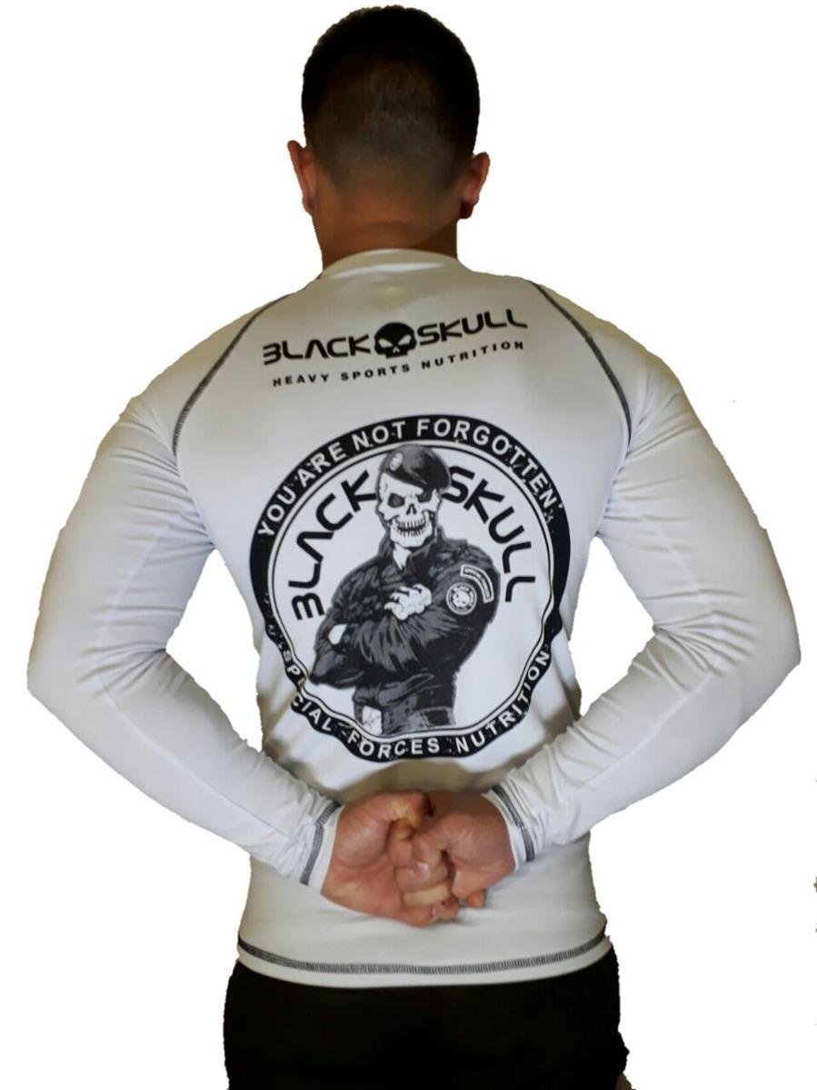 c38818a9eb4ec camisa camiseta black skull térmica bope treino jiu jitsu. Carregando zoom.