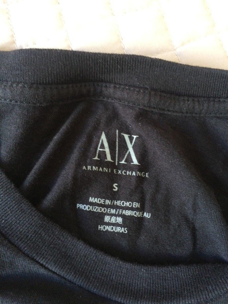 92549336e8b camisa camiseta blusa armani exchange preta s p original!! Carregando zoom.