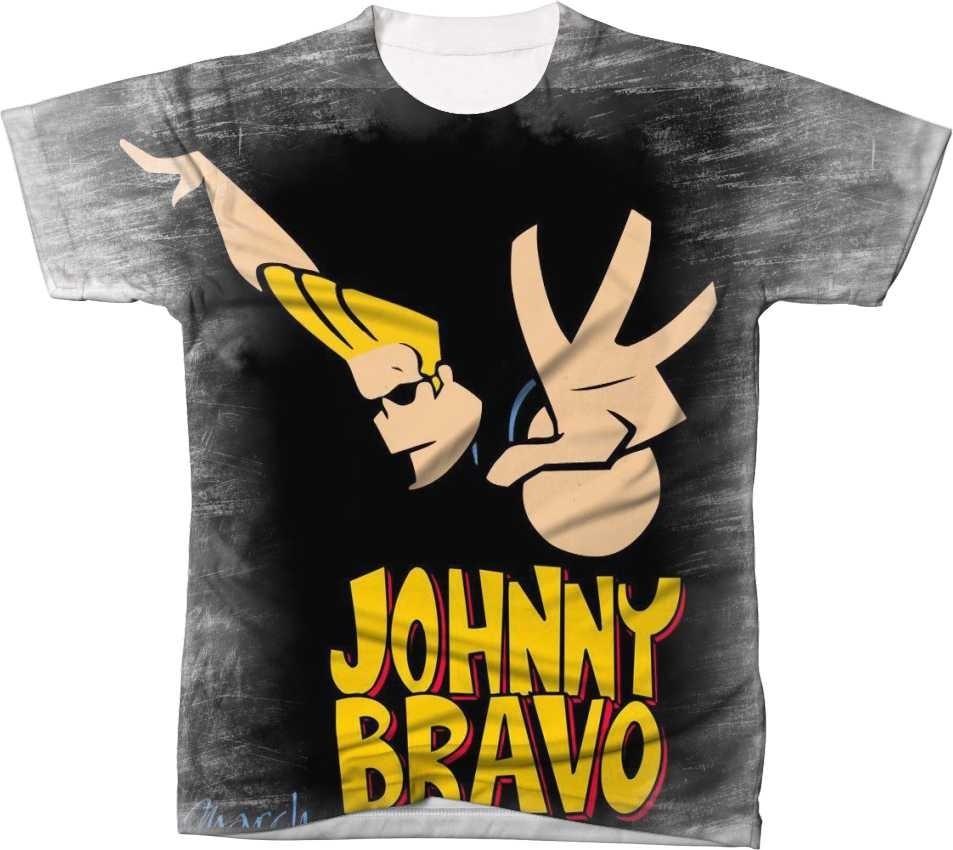 Camisa Camiseta Blusa Desenho Boy Johnny Bravo Gato 3 R 49 99