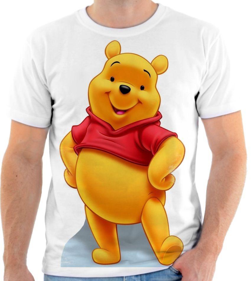 Camisa Camiseta Blusa Desenho Ursinho Pooh Puff 1 R 50 00 Em