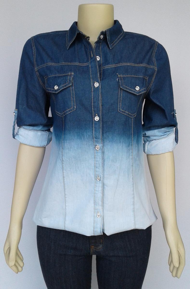 3a71dbf7c7 camisa camiseta blusa jeans feminina degradê preço atacado. Carregando zoom.